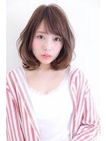 『PD伊川谷』大人かわいい小顔グレージュ☆ひし形前下がりミディ