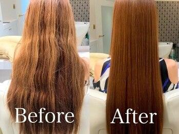 クレールドリュンヌ(clair de luna)の写真/《くせ毛改善=縮毛矯正だけじゃない!!》栄養成分で伸ばすストレートで、ダメージレスにさらツヤ髪へ―。