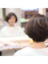 ソラ ヘアデザイン 別府店(Sora Hair Design)なちゅなるに大人可愛いショートボブ