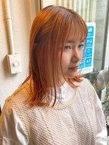 アレッタ ヘア オブジェ(ALETTA HAIR objet)オレンジ×切りっぱなし風ミディアム