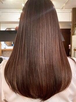 フランチェスカ(Francesca)の写真/人気の《オージュア》《ミネコラ》取り扱いあり◎一人一人に合わせたケアで潤い溢れる理想のツヤ髪へ♪