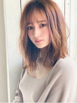 アグヘアー マーク 酒田下安店(Agu hair marc)《Agu hair》小顔ふんわりひし形無造作カール
