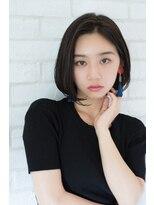 【東 純平】小顔に見せる大人可愛いワンレンボブ