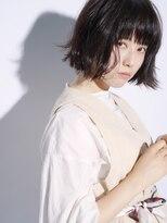 エアー ギンザ(air-GINZA)黒髪でも外はねで軽め質感に★内巻きもできる万能ボブ