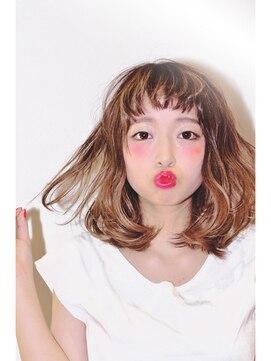 ヘアサロン ケッテ(hair salon kette)憧れ♪外国人風ハイライト×ロブ