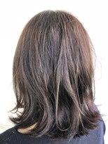 ヘアメイク オブジェ(hair make objet)外はねミディアムヘアー