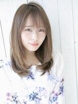 アグ ヘアー リノ 大名店(Agu hair reno)大人かわいい◎前髪あり×ミディアム
