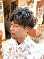 オムヘアーフォー(HOMME HAIR 4)秋冬スパイラルパーマ【HOMME HAIR4 KENSHIRO】