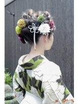 マウロア(MAULOA)【Mauloa】洋風×和風mix ヘアアレンジ 卒業式 袴スタイル 和装
