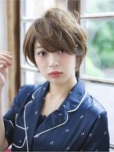 オーブ ヘアー シュシュ 福岡2号店(AUBE hair chouchou)大人可愛いふんわりショートスタイル