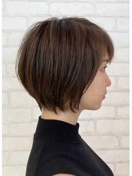 ビス ヘア アンド ビューティー 西新井店(Vis Hair&Beauty)大人かわいい小顔ショートボブ20代30代40代ハンサムショート