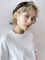 アルバム シンジュク(ALBUM SHINJUKU)グランジセンターパートインナーカラーボブ_セシルカット_47696