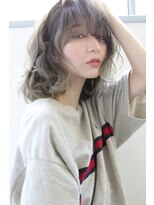 【Blanc/目黒】ハイグレージュ_グラデーション_ミディアム