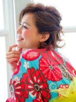 ショコラ アベノ(Chocolat ABENO)浴衣大人女子☆ショートアレンジ