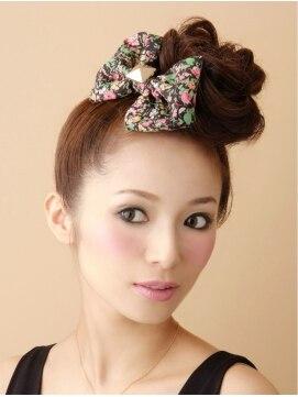 結婚式の髪型(ヘアアレンジ) オシャレおだんごヘア