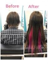 マーメイドヘアー(mermaid hair)ベリーショートからロングに!インナーカラー☆