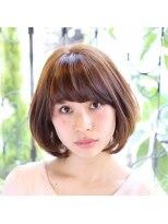 ヘアーデザイン リント(hair design Rinto)前下がりの小顔になれる人気のショートボブ