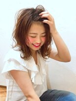 心ゆるまる チェトラ(CHETRA)イルミナカラー☆モテ髪ゆるふわボブ