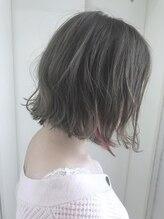 ヘアーデザイン シュシュ(hair design Chou Chou by Yone)☆chou chou☆インナーカラーチェリーピンク×カーキベージュ