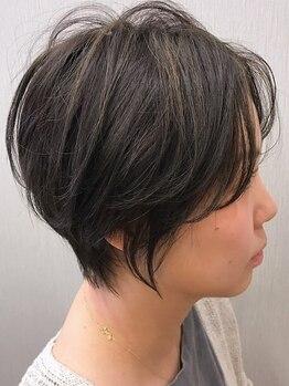 イロ(iro)の写真/乾かすだけでキマる!小顔、若見え、まとまりが叶う iroの《ショートヘア》綺麗なシルエットに大満足◇