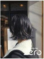 ヘアーメイクゼロ 坂戸駅前店(hairmake zero)ダブルカラー コバルトブルー
