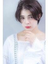 ヘアサロンガリカアオヤマ(hair salon Gallica aoyama)『毛束感 ×グレージュ』ひし形シルエット☆黒髪ベリーショート