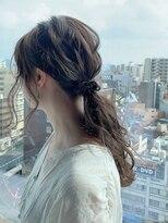 ヘアーサロンデフォーエバールークス(hairsalon de Forever Lux)【forever成佳】ゆるっとウェーブ風編み下ろしアレンジ