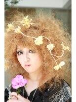 金髪アフロヘア (日和10月号ヘアカタログ)