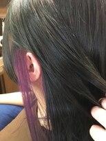 ヘアーメイク プリュム(Hair make Plume)インナーカラー×ムラサキ