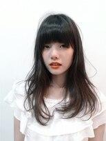 ヘアーサロン セル(Hair Salon CELL)【ナチュラルカール暗髪艶セミディ】