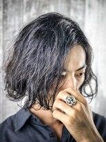 メンズパーマ 黒髪 簡単スタイリング ビジネス
