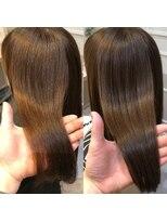 大宮髪質改善*3回目から4回目の仕上がり。