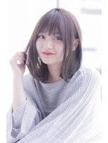 【Ramie 寺尾拓巳】グレージュ大人女子コスメストレートロブ