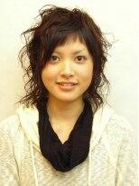 ヘアメイク オブジェ(hair make objet)個性溢れるミックス系パーマ