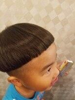 キノコ風ツーブロックヘア