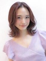 《Agu hair》ラズベリーカラーが可愛いフェミボブ
