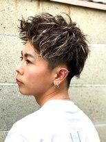 【L-MARK 池谷義彦】王道アップバング×ホワイトハイライト/短髪
