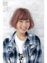 ブリーチの秋のハイトーン☆ラベンダーカラーボブ画像