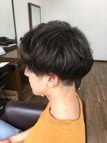 アールピクシー(Hair Work's r.Pixy)マッシュショート+ゆるパーマ