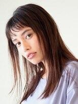 アース 常盤平店(HAIR & MAKE EARTH)濡れ髪クールなワンレンスタイル