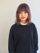 ヘアメイク オブジェ(hair make objet)ピンクパープル ロブ******KAI
