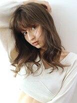 アルバム シンジュク(ALBUM SHINJUKU)ラフウエーブ_セミウェットウェーブオリーブカラー_48093