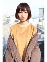 ガーデンヘアー(Garden hair)『GARDEN』暗髪+リップラインミニボブ♪