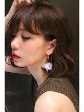 シェルベアー(Shell Bear)☆ShellBear 銀座店☆ラフだけど可愛い耳かけボブスタイル