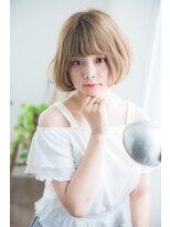 シルクベージュカラーボブ【miel hair blanc】