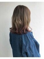 ヘアメイク オブジェ(hair make objet)ハイトーン グラデーション 裾カラー
