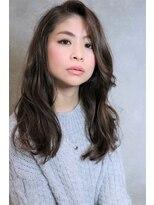 【coma中野】前髪長め、大人かわいいウエーブスタイル.