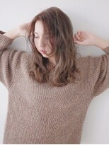 ヘアー ピープル(Hair People)フェアリー外国人風無造作パーマ☆黒髪センターパート斜めバング