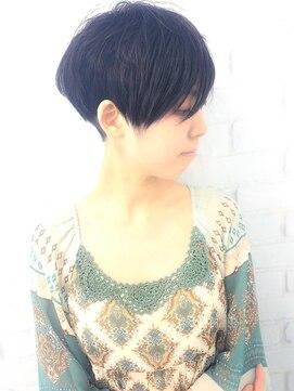 ラウンジ モリオ イケブクロ(Lounge MORIO Ikebukuro)【morio池袋】大人かわいい黒髪ツーブロック刈り上げショート