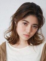 アース 新長田店(HAIR&MAKE EARTH)ウエットな質感のウェーブミディ